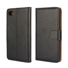 Handytasche Stand Schutzhülle Leder für Blackberry Z30 Schwarz