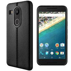 Handytasche Stand Schutzhülle Leder für Google Nexus 5X Schwarz