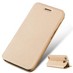 Handytasche Stand Schutzhülle Leder für Huawei Enjoy 5S Gold