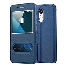 Handytasche Stand Schutzhülle Leder für Huawei Enjoy 6 Blau