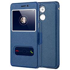 Handytasche Stand Schutzhülle Leder für Huawei Enjoy 6S Blau