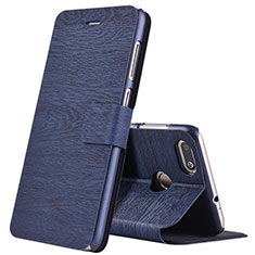 Handytasche Stand Schutzhülle Leder für Huawei Enjoy 7 Blau