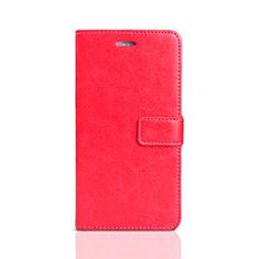 Handytasche Stand Schutzhülle Leder für Huawei Enjoy 8e Lite Rot