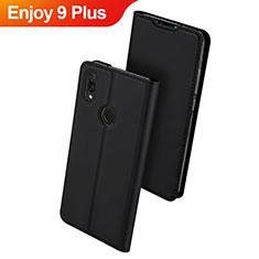 Handytasche Stand Schutzhülle Leder für Huawei Enjoy 9 Plus Schwarz