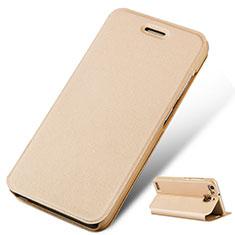 Handytasche Stand Schutzhülle Leder für Huawei G8 Mini Gold
