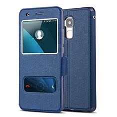 Handytasche Stand Schutzhülle Leder für Huawei GT3 Blau