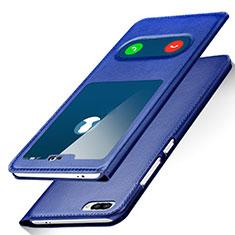 Handytasche Stand Schutzhülle Leder für Huawei Honor 10 Blau