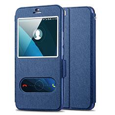 Handytasche Stand Schutzhülle Leder für Huawei Honor 6 Plus Blau