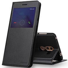 Handytasche Stand Schutzhülle Leder für Huawei Honor 6X Schwarz