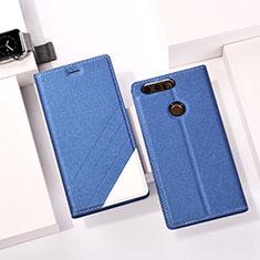 Handytasche Stand Schutzhülle Leder für Huawei Honor 8 Blau