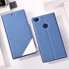 Handytasche Stand Schutzhülle Leder für Huawei Honor 8 Lite Blau