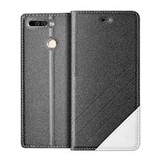 Handytasche Stand Schutzhülle Leder für Huawei Honor 8 Pro Grau
