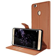 Handytasche Stand Schutzhülle Leder für Huawei Honor Note 8 Braun