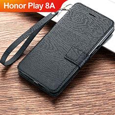 Handytasche Stand Schutzhülle Leder für Huawei Honor Play 8A Schwarz