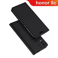 Handytasche Stand Schutzhülle Leder für Huawei Honor Play 8C Schwarz