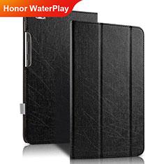 Handytasche Stand Schutzhülle Leder für Huawei Honor WaterPlay 10.1 HDN-W09 Schwarz