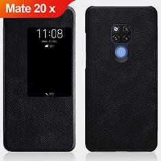 Handytasche Stand Schutzhülle Leder für Huawei Mate 20 X 5G Schwarz