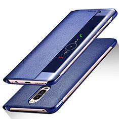 Handytasche Stand Schutzhülle Leder für Huawei Mate 9 Pro Blau