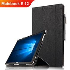 Handytasche Stand Schutzhülle Leder für Huawei Matebook E 12 Schwarz