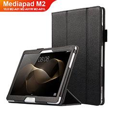 Handytasche Stand Schutzhülle Leder für Huawei MediaPad M2 10.0 M2-A01 M2-A01W M2-A01L Schwarz