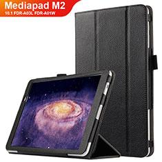 Handytasche Stand Schutzhülle Leder für Huawei MediaPad M2 10.1 FDR-A03L FDR-A01W Schwarz