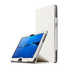 Handytasche Stand Schutzhülle Leder für Huawei MediaPad M3 Lite 10.1 BAH-W09 Weiß