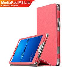 Handytasche Stand Schutzhülle Leder für Huawei MediaPad M3 Lite 8.0 CPN-W09 CPN-AL00 Rot