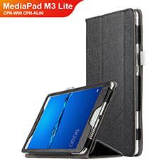Handytasche Stand Schutzhülle Leder für Huawei MediaPad M3 Lite 8.0 CPN-W09 CPN-AL00 Schwarz