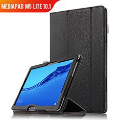 Handytasche Stand Schutzhülle Leder für Huawei MediaPad M5 Lite 10.1 Schwarz