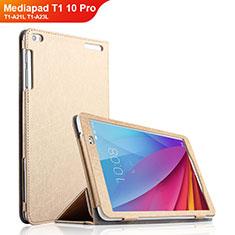 Handytasche Stand Schutzhülle Leder für Huawei Mediapad T1 10 Pro T1-A21L T1-A23L Gold