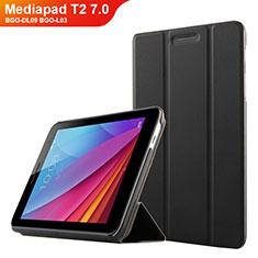 Handytasche Stand Schutzhülle Leder für Huawei Mediapad T2 7.0 BGO-DL09 BGO-L03 Schwarz
