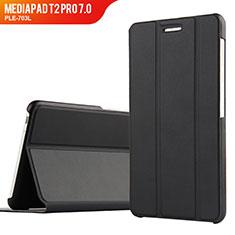 Handytasche Stand Schutzhülle Leder für Huawei MediaPad T2 Pro 7.0 PLE-703L Schwarz