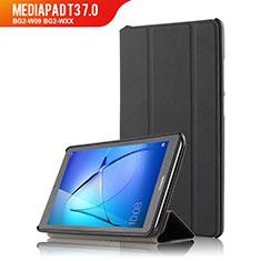 Handytasche Stand Schutzhülle Leder für Huawei MediaPad T3 7.0 BG2-W09 BG2-WXX Schwarz