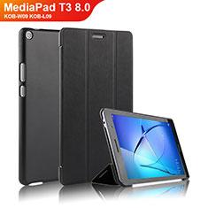 Handytasche Stand Schutzhülle Leder für Huawei MediaPad T3 8.0 KOB-W09 KOB-L09 Schwarz