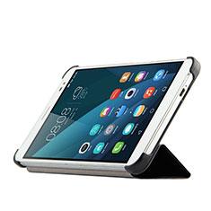 Handytasche Stand Schutzhülle Leder für Huawei MediaPad X2 Schwarz