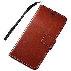 Handytasche Stand Schutzhülle Leder für Huawei Nova Lite 3 Braun