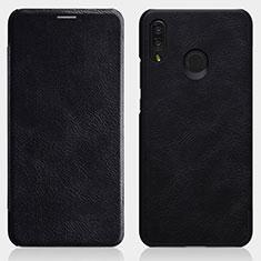 Handytasche Stand Schutzhülle Leder für Huawei P Smart+ Plus Schwarz