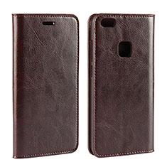 Handytasche Stand Schutzhülle Leder für Huawei P10 Lite Braun