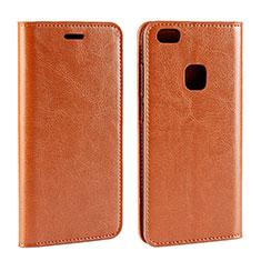 Handytasche Stand Schutzhülle Leder für Huawei P10 Lite Orange