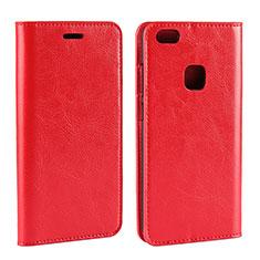 Handytasche Stand Schutzhülle Leder für Huawei P10 Lite Rot