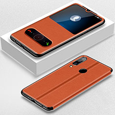 Handytasche Stand Schutzhülle Leder für Huawei P30 Lite New Edition Braun