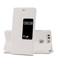 Handytasche Stand Schutzhülle Leder für Huawei P9 Plus Weiß