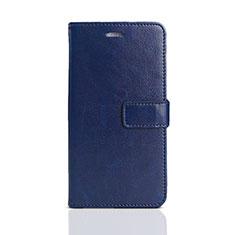 Handytasche Stand Schutzhülle Leder für Huawei Y5 (2018) Blau