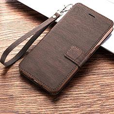 Handytasche Stand Schutzhülle Leder für Huawei Y6 (2019) Braun