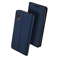 Handytasche Stand Schutzhülle Leder für Huawei Y7 Prime (2019) Blau