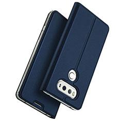 Handytasche Stand Schutzhülle Leder für LG G6 Blau