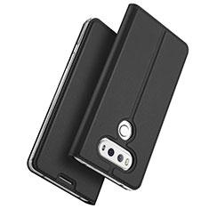 Handytasche Stand Schutzhülle Leder für LG G6 Schwarz