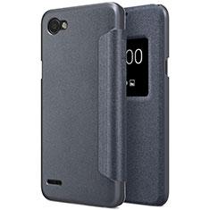 Handytasche Stand Schutzhülle Leder für LG Q6 Schwarz