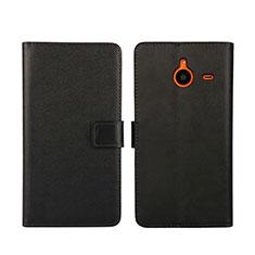 Handytasche Stand Schutzhülle Leder für Microsoft Lumia 640 XL Lte Schwarz
