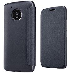 Handytasche Stand Schutzhülle Leder für Motorola Moto G5 Schwarz
